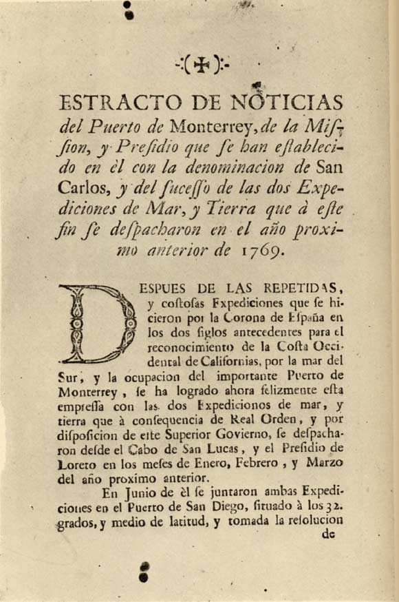 Official Account of the Portolá Expedition