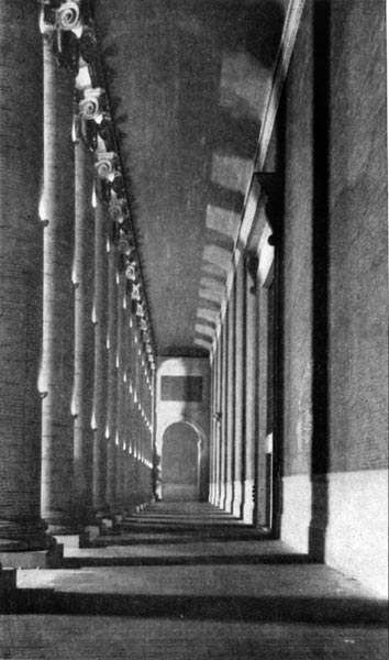 Court of the Four Seasons - The North Colonnade by Night