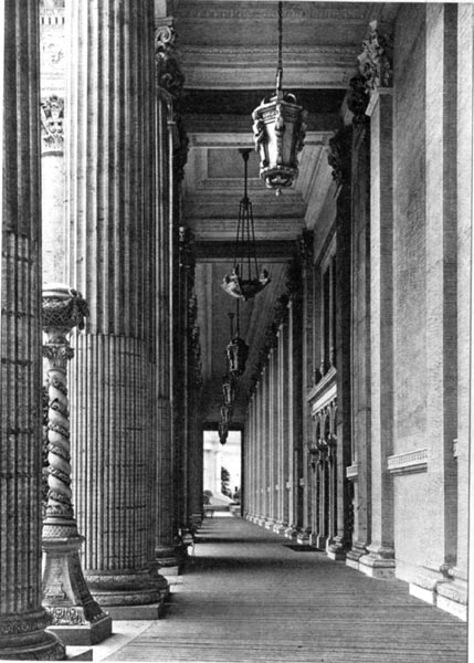 Court of Flowers - A Vista in the Colonnade