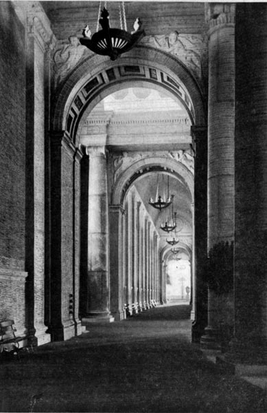 Court of Palms - In the Colonnade by Night