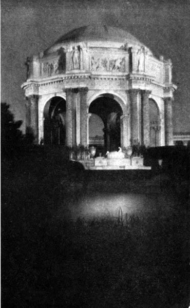 The Rotunda of the Palace of Fine Arts - A View by Night