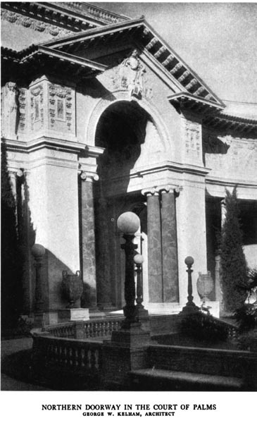Northern Doorway in the Court of Palms. George Kelham, Architect