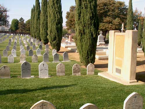 Nun's Section - St. Dominics Cemetery - Benicia - view 2