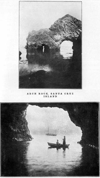 Arch Rock, Santa Cruz Island and Cueva Valdez, Santa Cruz Island