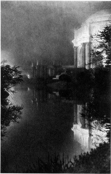 Palace of Fine Arts and Lagoon - A Foggy Night