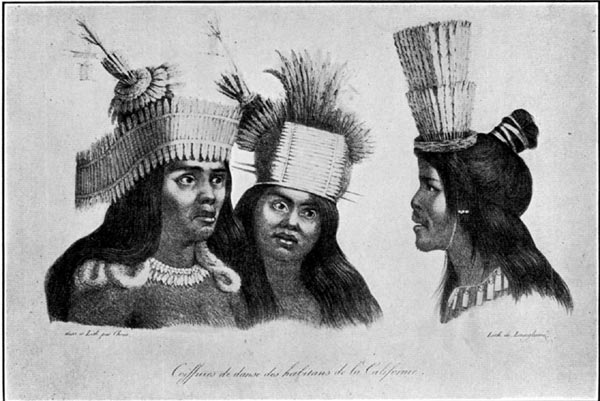 Head-Dresses Worn by the Natives of California in Their Dances (1816)