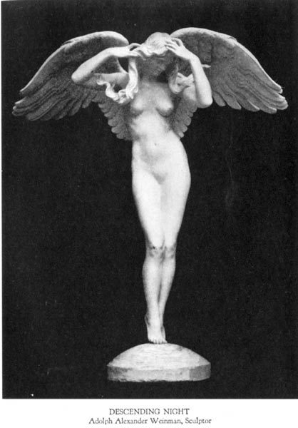 Descending Night - Adolph Alexander Weinman, Sculptor