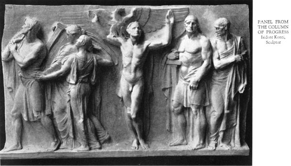 Panel from the Column of Pogress - Isadore Konti, Sculptor
