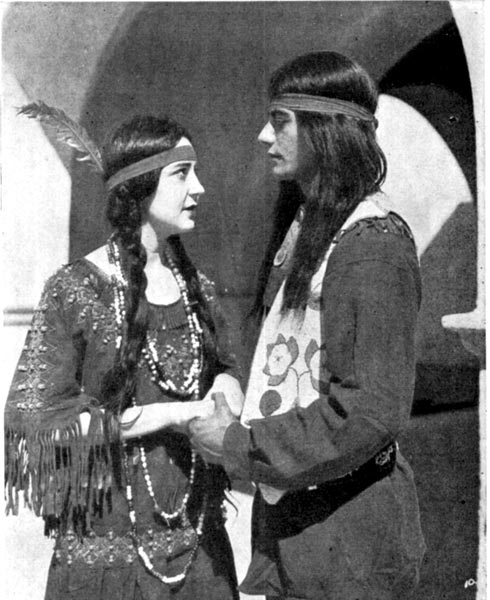Indian Lad and His Sweetheart (Sanch and Anita) in Mission Play at San Gabriel