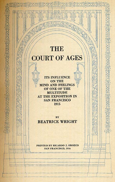 The court of ages beatrice wright title page table for Html table title